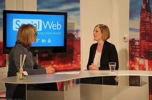 Isabelle en entrevue à la télévision de Laval